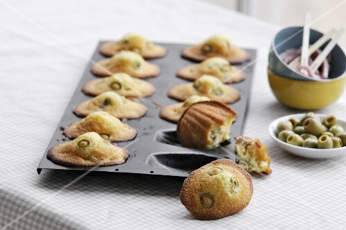 Green olive savory Madeleines