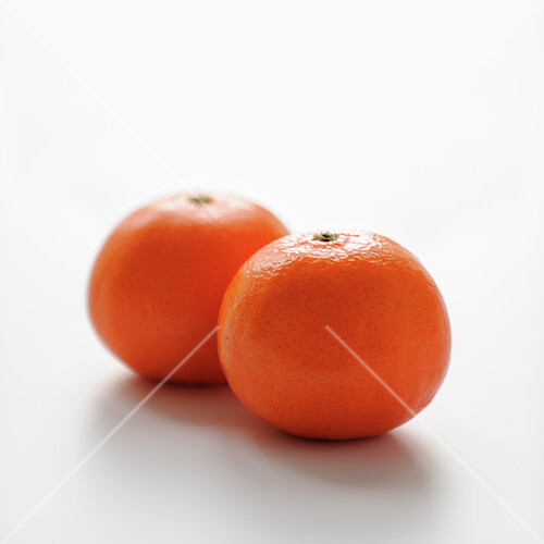 Clementines on a white background