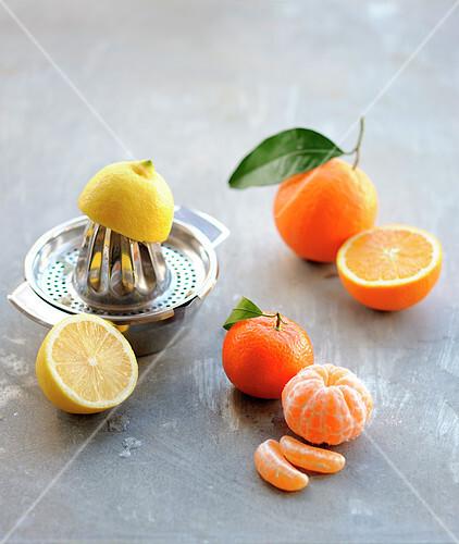 Assortment of citrus fruit
