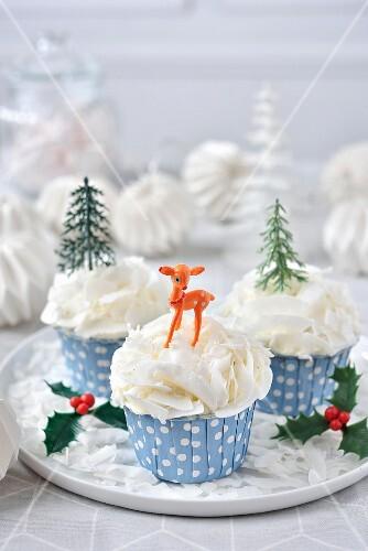Choco-coconut Christmas cupcke