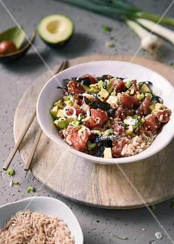 Tuna and avocado Poke bowl