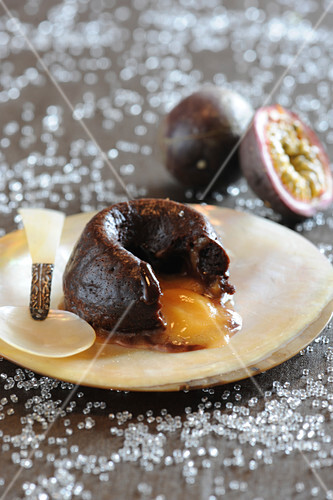 Chocolate and passionfruit Fondants