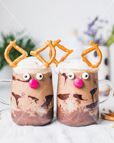 Reindeer hot chocolates
