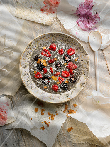 Chia and summer fruit pudding