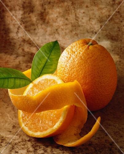 Orange and peel