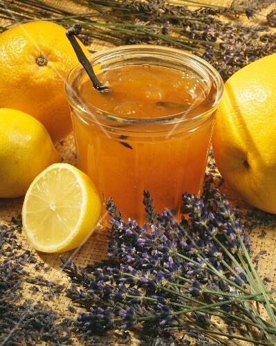 Orange and lavander marmalade