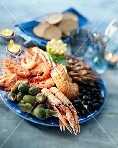 A seafood platter