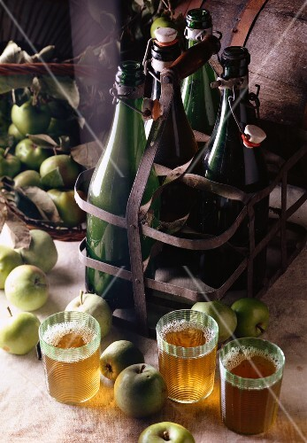 bottles of cider