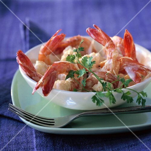 Prawns in cream