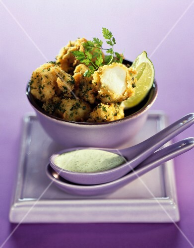 Monk fish balls with herbs