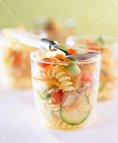 Pasta and vegetable salad