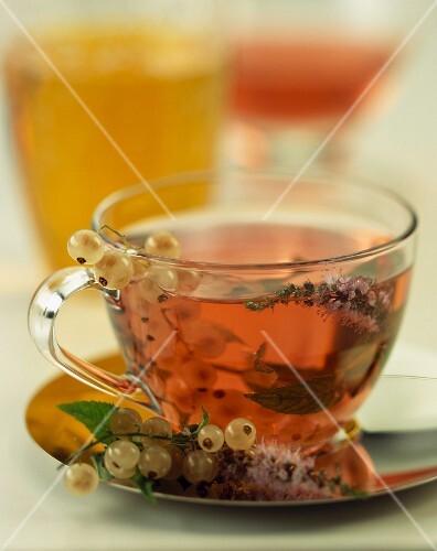 Whitecurrant and thyme herbal tea