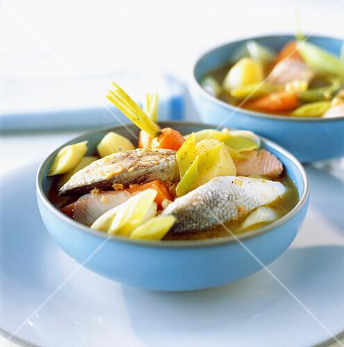 Mediterranean fish soup with aïoli garlic mayonnaise