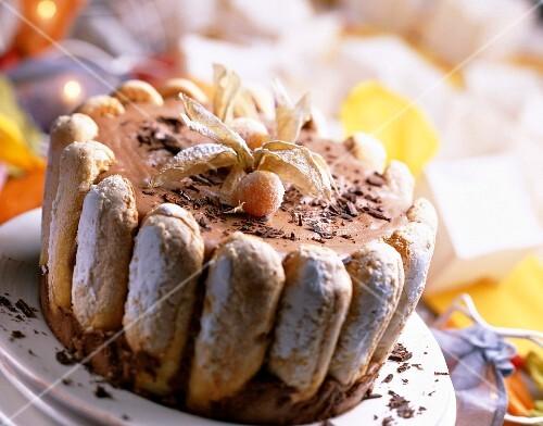 Chocolate charlotte dessert