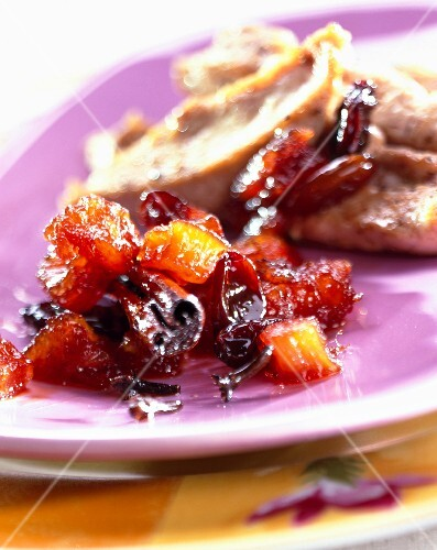 Pineapple chutney and poultry emince