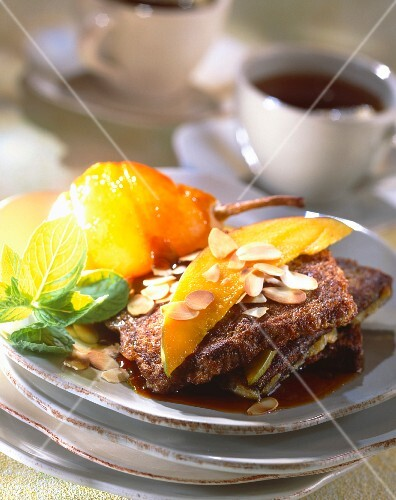 Gingerbread frenchtoast with mango