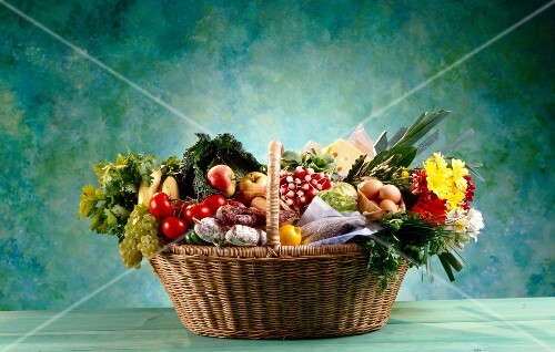 basket of market products