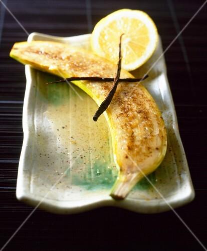 Banana with lemon and vanilla