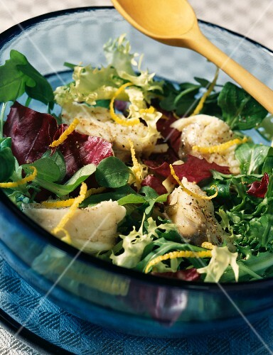 Monkfish tail salad with lemon zest (topic : cooking today)