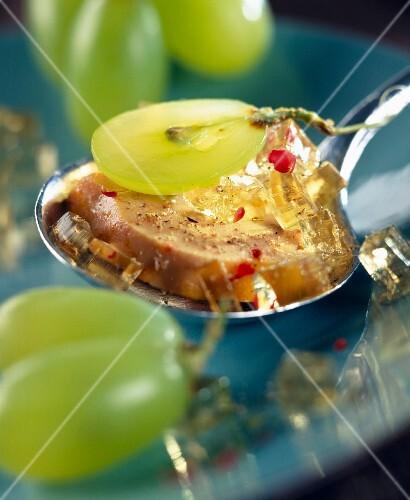 Foie gras with tea-flavored aspic