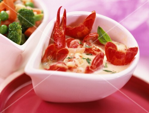 Crayfish in sauce