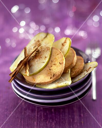 foie gras and pear
