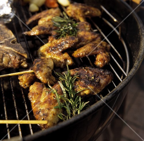 Barbecued Chicken on the Grille