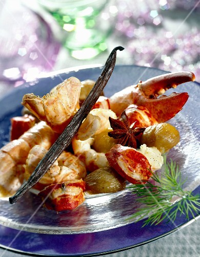Lobster with vanilla and chestnuts