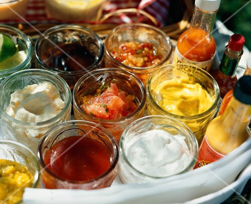 Various Condiments for the Barbecue