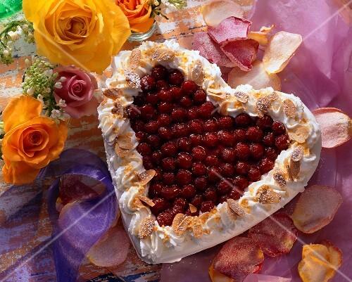 Heart-shaped Raspberry Glaze Cake