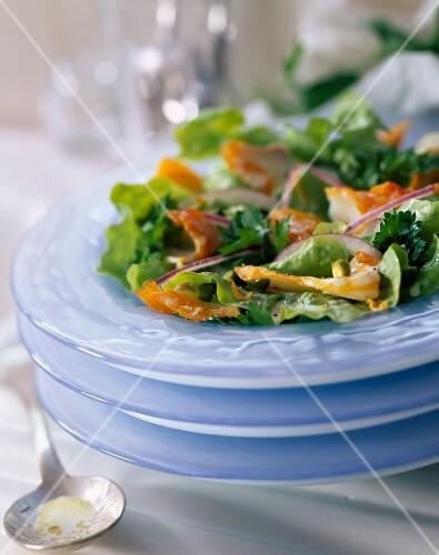 Haddock salad with flat leaved parsley