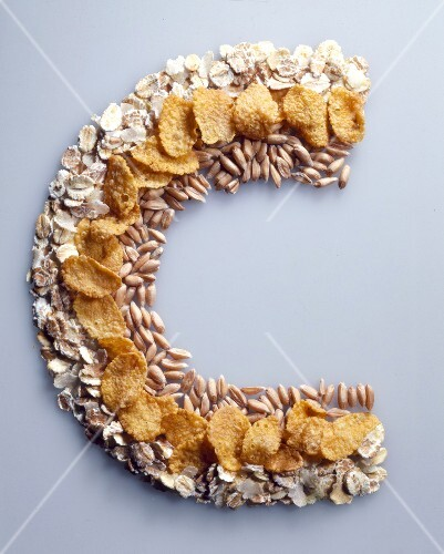 Cereals arranged in C shape