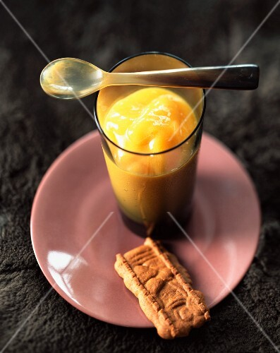 Iced mango and grapefruit soup