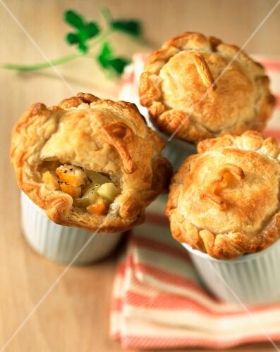 Mini potato and haddock pies