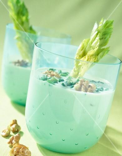 Cream of celery, roquefort and walnuts