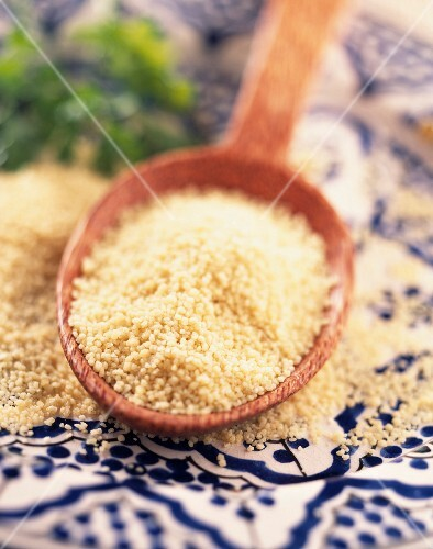 Spoonful of semolina for couscous