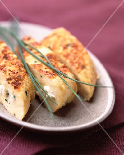 Soft cheese omelette