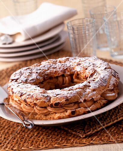 Paris Brest cream cake