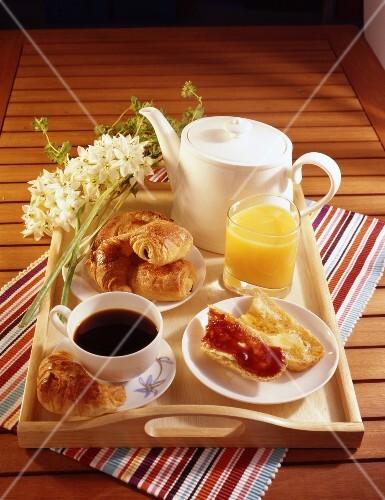 Continental breakfast tray