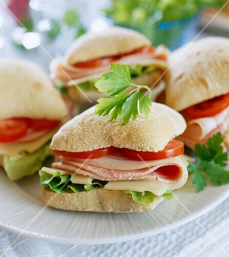 Bap sandwiches