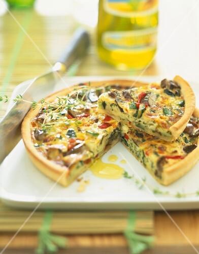 provençal -style vegetable quiche