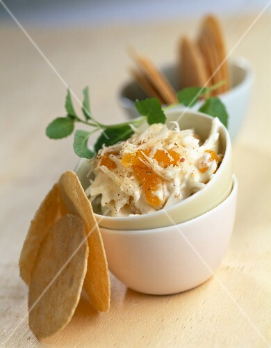 Parsnip,apricot and mint dip