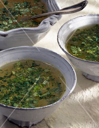 Cold herb soup