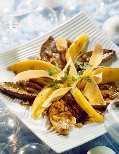 Pan-fried foie gras with mango