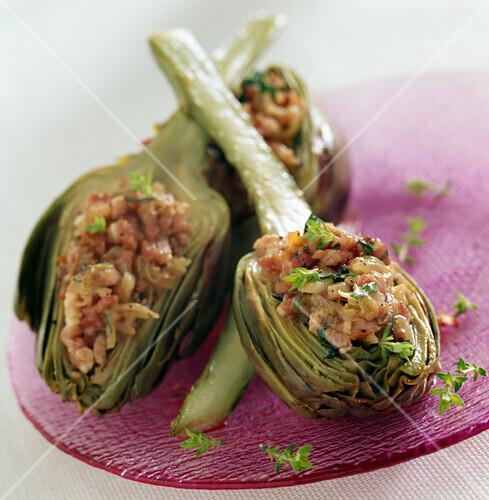 braised artichokes