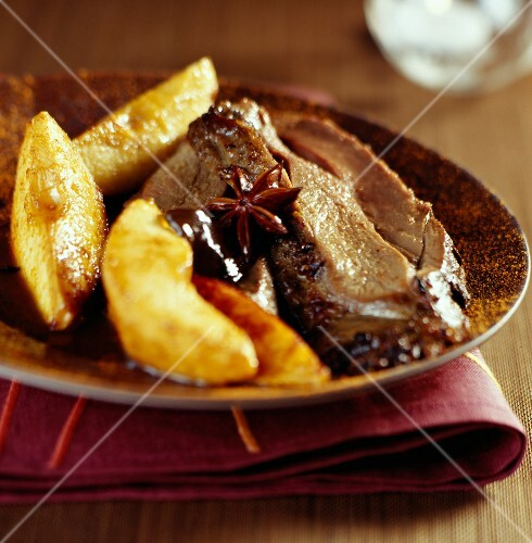 roast haunch of venison with quince