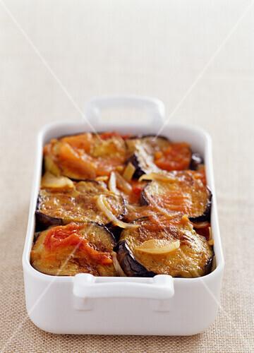Eggplant and potato gratin