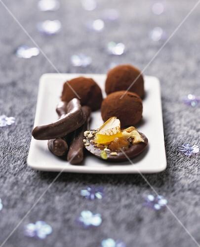 Assortment of chocolate delicacies