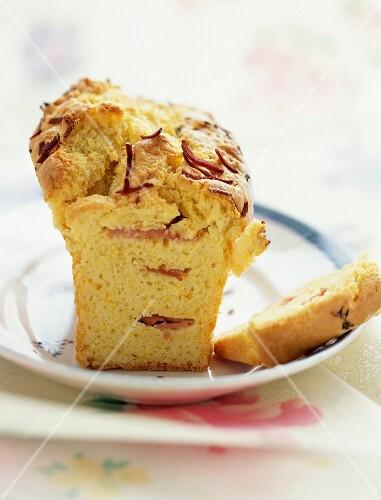 Ham and gruyère loaf cake