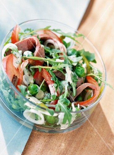 garden salad with beef (topic: salads)